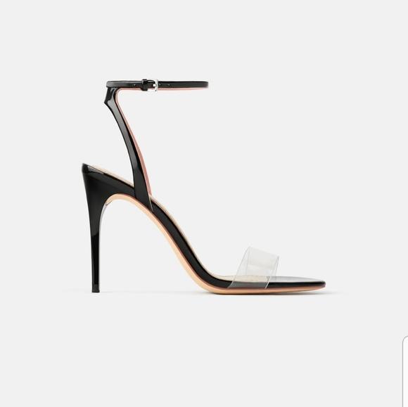 fa435f707a1 Zara Heel Vinyl Sandals